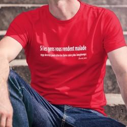Men's cotton T-Shirt - Si les gens vous rendent malade ✪ Hannibal Lecter ✪