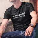 Men's cotton T-Shirt - Le monde est rempli... ✪ Hannibal Lecter ✪