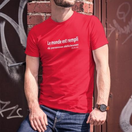 Le monde est rempli de personnes délicieuses ✪ Hannibal Lecter ✪ T-Shirt coton homme
