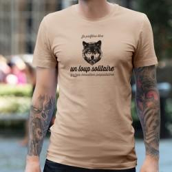Je préfère être un loup solitaire qu'un mouton populaire ✪ T-Shirt homme