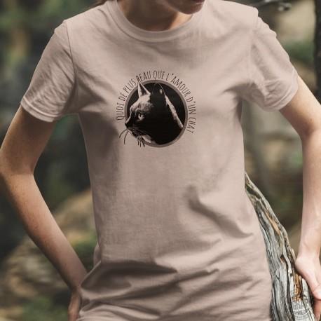 L'amour d'un chat ❤ T-Shirt Donna