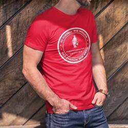 So schnell wie möglich ✚ So langsam wie nötig ✚ Frau Helvetia ✚ Herren-Baumwoll-T-Shirt