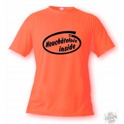 Men's funny T-shirt - Neuchâtelois inside