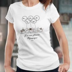 J'ai la flemme olympique ★ chats endormis ★ Frauen T-shirt