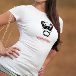 Panda attitude ❤ T-Shirt dame Kawaii, adorable panda dans le style Kawaii, portant des lunettes de soleil