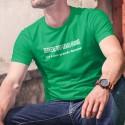 Derrière tout grand homme ✪ flemme ✪ T-Shirt coton homme
