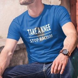 TAKE A KNEE ✪ STOP RACISM ✪ T-Shirt coton homme, poser un genou à terre contre le racisme