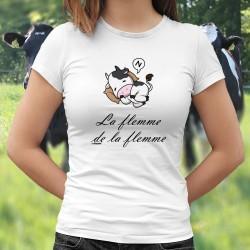 La flemme de la flemme ★ vachette Holstein ★ T-Shirt donna