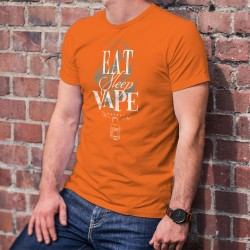 Eat, Sleep, Vape, repeat ✪ e-Cigarette ✪ Herren Baumwolle T-Shirt, Essen, Schlafen, Dampfen, Wiederholen