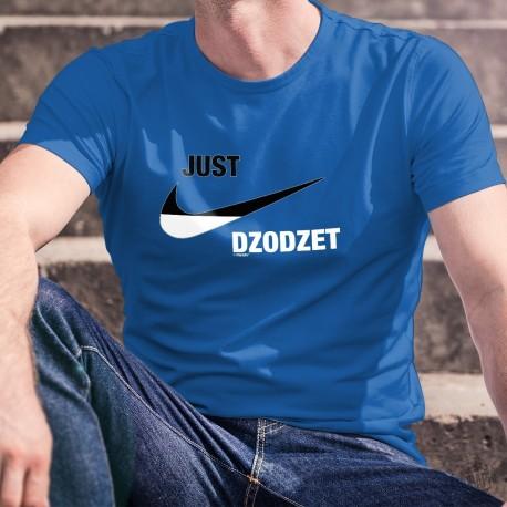 Just dzodzet ★ Just do it ★ T-Shirt coton homme logo marque aux couleurs du canton de Fribourg