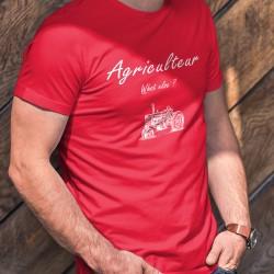 Agriculteur, What else ? ★ T-Shirt coton homme avec un vieux tracteur (old Timer)  et inspiré d'une marque de café