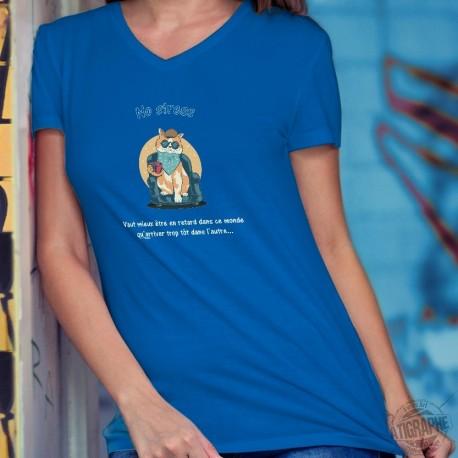 Women's cotton T-Shirt - No Stress ❤ Chat relax ❤