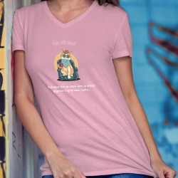 Women's cotton T-Shirt - No Stress ❤ Chat relax ❤