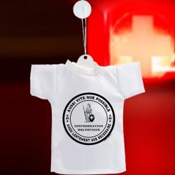 Aussi vite que possible ✚ Aussi lentement que nécessaire ✚ Mini T-Shirt pour voiture, phrase culte