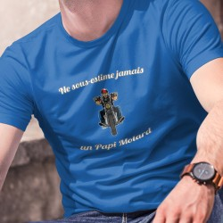 cotone T-Shirt - Ne sous-estime jamais un Papi Motard ★