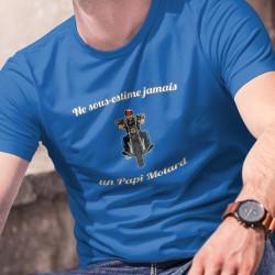 Baumwolle T-Shirt - Ne sous-estime jamais un Papi Motard ★