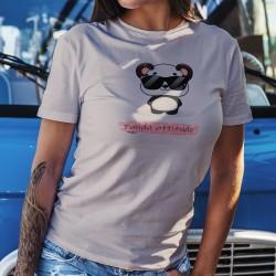 Panda attitude ❤ Donna T-Shirt Kawaii