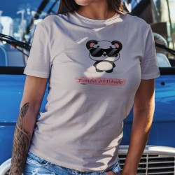 Panda attitude ❤ Frauen Kawaii Casual T-Shirt