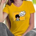 Black Lives Matter ✪ Pop Art Girl ✪ T-Shirt coton dame