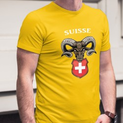 Suisse ✚ Alpine Ibex ✚ Men's cotton T-Shirt