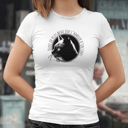 L'amour d'un chat ❤ Damenmode T-Shirt