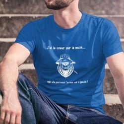 Baumwolle T-Shirt - J'ai le coeur sur la main ✪ ours mal léché ✪
