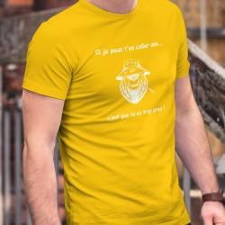 Baumwolle T-Shirt - Si je peux t'en coller une ✪ ours mal léché ✪