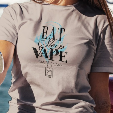 Eat, Sleep, Vape, repeat ✪ e-Cigarette ✪ Women's T-Shirt