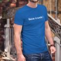 Quèche tè batoille ! ★ Tais-toi bavard ! ★ T-Shirt humoristique coton homme