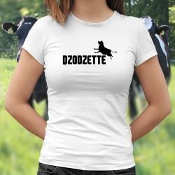 Dzodzette ❤ silhouette de vache ❤ T-shirt mode dame vache en silhouette inspiré du logo de la marque de sport Puma