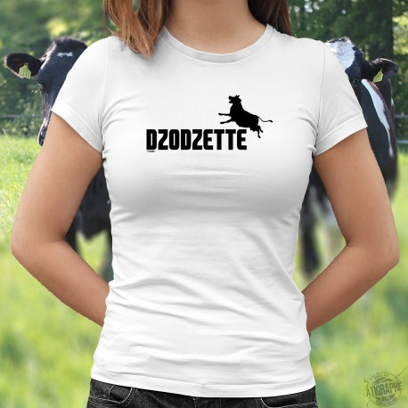 Donna moda T-shirt - Dzodzette ❤ silhouette de vache ❤