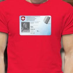 Carte d'identité ✪ Guillaume Tell ✪ T-Shirt coton humoristique homme déconfinement