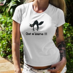 Chat m'énerve !!! ❤ chat râleur ❤ Lady t-shirt