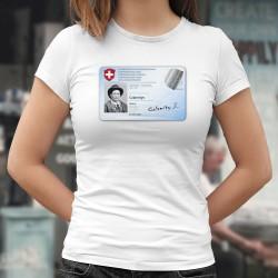 Carte d'identité ✪ Calamity Jane ✪ T-Shirt dame, être identifiable même avec le port du masque