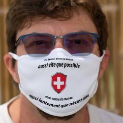 En Suisse on va au bistrot aussi vite que possible ✚ Maschera di cotone