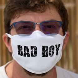 Bad Boy ★ mauvais garçon ★ Masque en tissu double couche lavable
