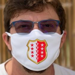Blason Valaisan ✪ drapeau valaisan ✪ Masque de protection en tissu double couche, lavable