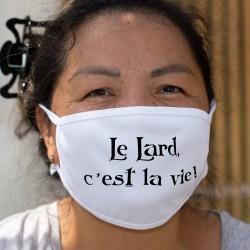 Le lard, c'est la vie ★ Corpore sano ★ Masque en tissu inspiré de la phrase culte de Karadoc dans Kaamelott