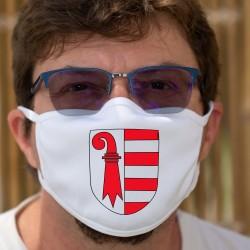 Écusson jurassien ★ Masque de protection en tissu double couche, lavable à 60 °C