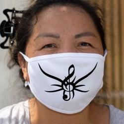 Tribal treble clef ★ Cotton mask