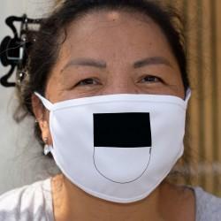 Écusson fribourgeois ★ Masque de protection en tissu double couche, lavable à 60 °C