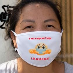 Je porte un masque pour TE protéger ❤ Cotton mask