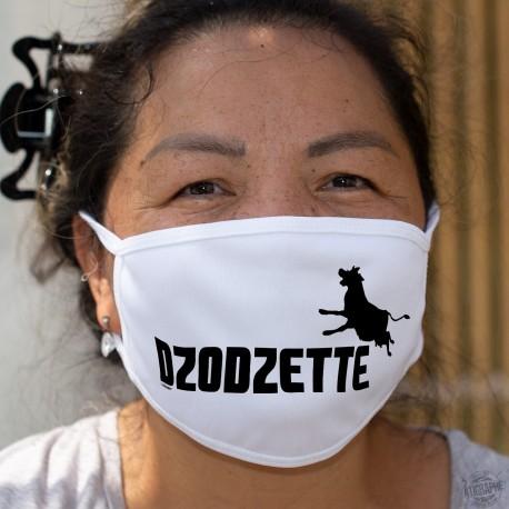 Dzodzette ❤ silhouette de vache ❤ Masque en tissu double couche, lavable inspiré du logo d'une marque de sport connue