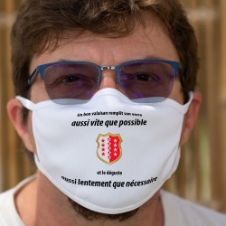 Un valaisan remplit son VERRE aussi vite que possible ✚ Cotton mask