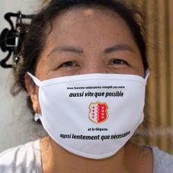 Une valaisanne remplit son VERRE aussi vite que possible ✚ Cotton mask