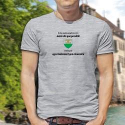 Men's T-Shirt - Un vaudois remplit son VERRE aussi vite que possible