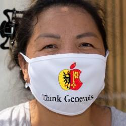 Think Genevois ★ pense Genevois ★ Masque en tissu inspiré d'une pub d'une marque de smartphone