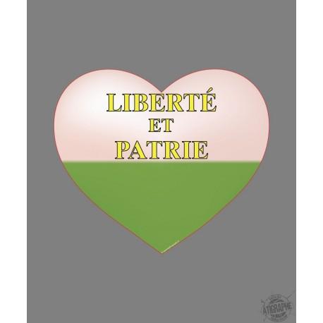 Sticker - Coeur Vaudois - pour voiture