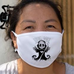 Hug me ❤ fais-moi un câlin ❤ Masque en tissu lavable, version humoristique de la faucheuse en quête d'un câlin