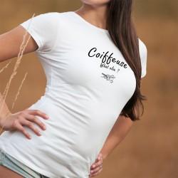 Coiffeuse, What else ? ☀ Paire de ciseaux ☀ T-shirt humoristique mode dame inspiré de Georges Clooney